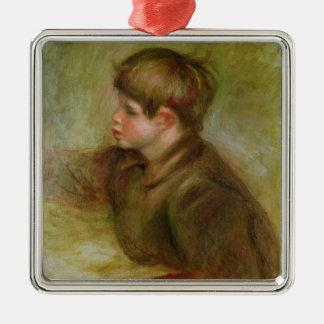 Pierre A Renoir | Portrait of Coco Silver-Colored Square Decoration