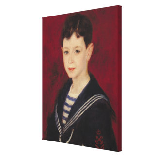 Pierre A Renoir | Portrait of Fernand Halphen Canvas Print