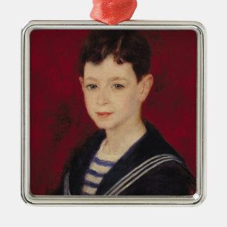 Pierre A Renoir | Portrait of Fernand Halphen Silver-Colored Square Decoration