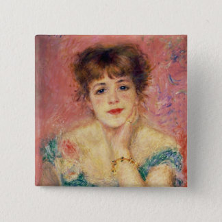 Pierre A Renoir | Portrait of Jeanne Samary 15 Cm Square Badge