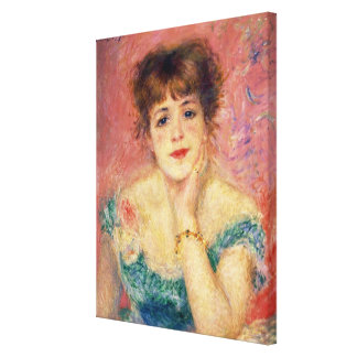 Pierre A Renoir | Portrait of Jeanne Samary Canvas Print