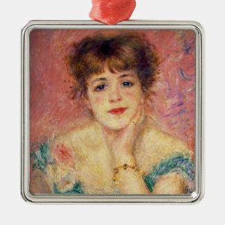 Pierre A Renoir | Portrait of Jeanne Samary Christmas Ornament