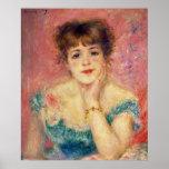 Pierre A Renoir | Portrait of Jeanne Samary Poster