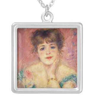 Pierre A Renoir | Portrait of Jeanne Samary Silver Plated Necklace