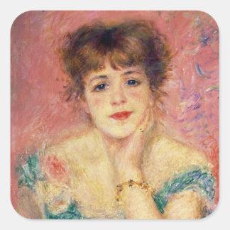 Pierre A Renoir | Portrait of Jeanne Samary Square Sticker