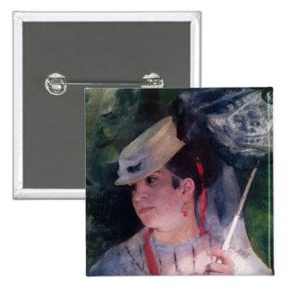 Pierre A Renoir | Portrait of Lise 15 Cm Square Badge