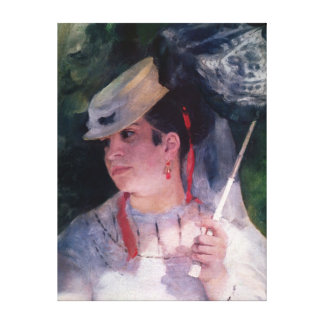 Pierre A Renoir | Portrait of Lise Canvas Print