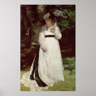Pierre A Renoir | Portrait of Lise Poster