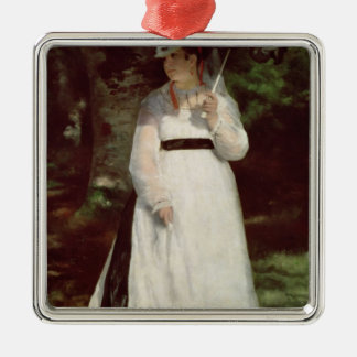 Pierre A Renoir | Portrait of Lise Silver-Colored Square Decoration