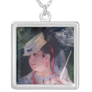 Pierre A Renoir | Portrait of Lise Silver Plated Necklace