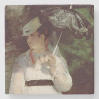 Pierre A Renoir | Portrait of Lise Stone Beverage Coaster
