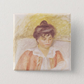 Pierre A Renoir | Portrait of Madame Albert Andre 15 Cm Square Badge