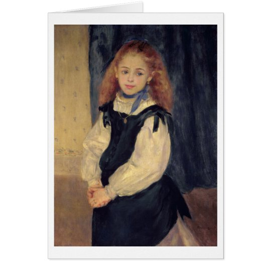 Pierre A Renoir | Portrait of Mademoiselle Legrand Card