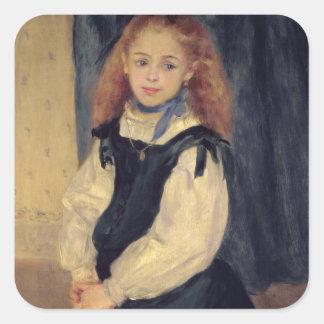 Pierre A Renoir | Portrait of Mademoiselle Legrand Square Sticker
