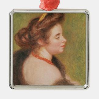Pierre A Renoir | Portrait of Mme. Maurice Denis Christmas Ornament
