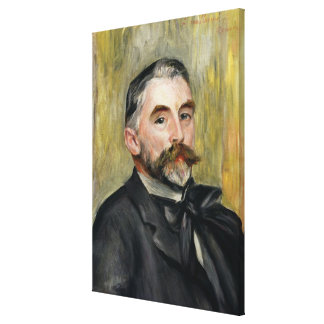 Pierre A Renoir | Portrait of Stephane Mallarme Canvas Print