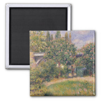 Pierre A Renoir | Railway Bridge at Chatou Magnet