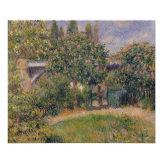 Pierre A Renoir | Railway Bridge at Chatou Poster
