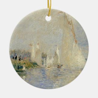 Pierre A Renoir | Regatta at Argenteuil Christmas Ornament