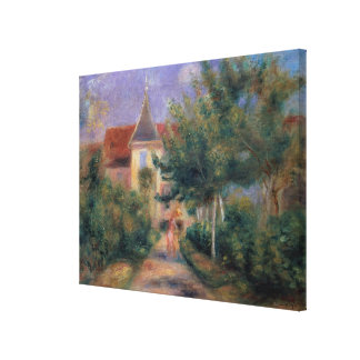 Pierre A Renoir | Renoir's house at Essoyes Canvas Print