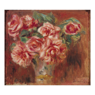 Pierre A Renoir | Roses in a Vase Poster