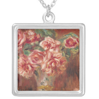 Pierre A Renoir | Roses in a Vase Silver Plated Necklace