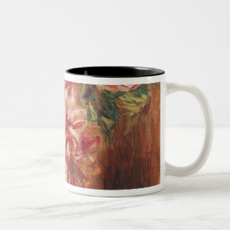 Pierre A Renoir | Roses in a Vase Two-Tone Coffee Mug