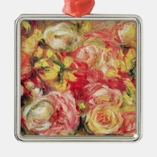 Pierre A Renoir | Roses Silver-Colored Square Decoration