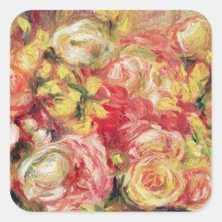 Pierre A Renoir | Roses Square Sticker