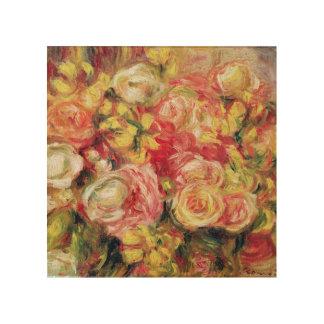 Pierre A Renoir | Roses Wood Print