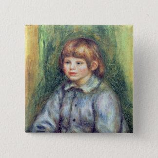 Pierre A Renoir | Seated Portrait of Claude Renoir 15 Cm Square Badge