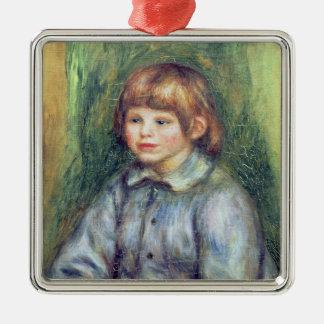 Pierre A Renoir   Seated Portrait of Claude Renoir Silver-Colored Square Decoration