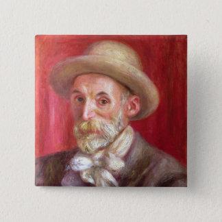 Pierre A Renoir | Self portrait 15 Cm Square Badge