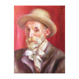 Pierre A Renoir | Self portrait Canvas Print