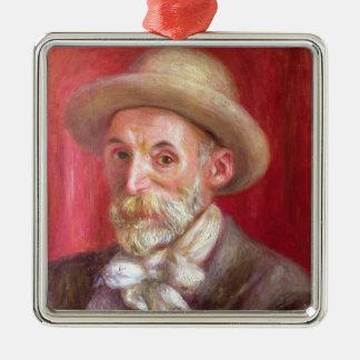 Pierre A Renoir | Self portrait Silver-Colored Square Decoration