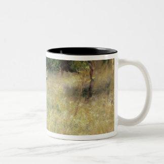 Pierre A Renoir | Spring at Chatou Two-Tone Coffee Mug
