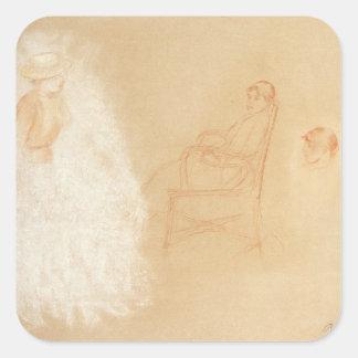 Pierre A Renoir   Studies of Women Square Sticker