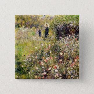 Pierre A Renoir | Summer Landscape 15 Cm Square Badge