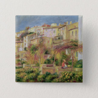 Pierre A Renoir | Terrace in Cagnes 15 Cm Square Badge