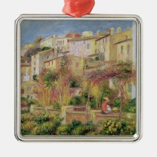 Pierre A Renoir | Terrace in Cagnes Silver-Colored Square Decoration