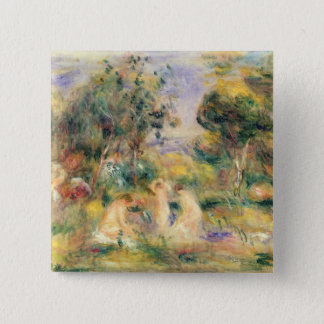 Pierre A Renoir | The Bathers 15 Cm Square Badge