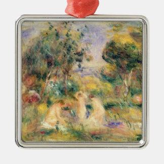 Pierre A Renoir | The Bathers Silver-Colored Square Decoration