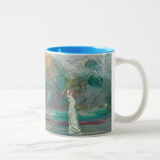 Pierre A Renoir | The Blue River Two-Tone Coffee Mug