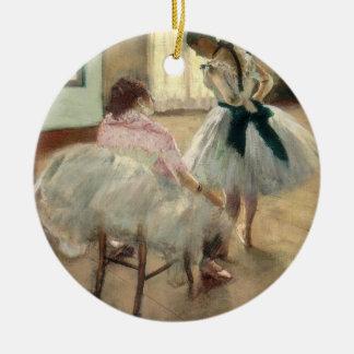 Pierre A Renoir | The Dance Lesson Round Ceramic Decoration