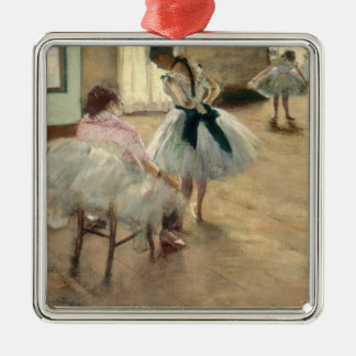 Pierre A Renoir | The Dance Lesson Silver-Colored Square Decoration