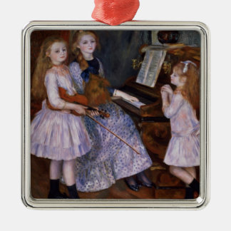 Pierre A Renoir | The Daughters of Catulle Mendes Silver-Colored Square Decoration