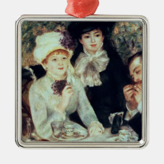 Pierre A Renoir | The End of Luncheon Silver-Colored Square Decoration
