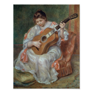 Pierre A Renoir | The Guitar Player Poster