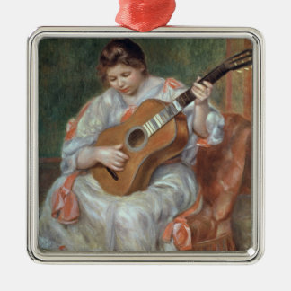 Pierre A Renoir | The Guitar Player Silver-Colored Square Decoration