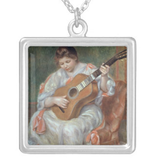 Pierre A Renoir | The Guitar Player Silver Plated Necklace